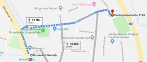 Fußweg zur Party